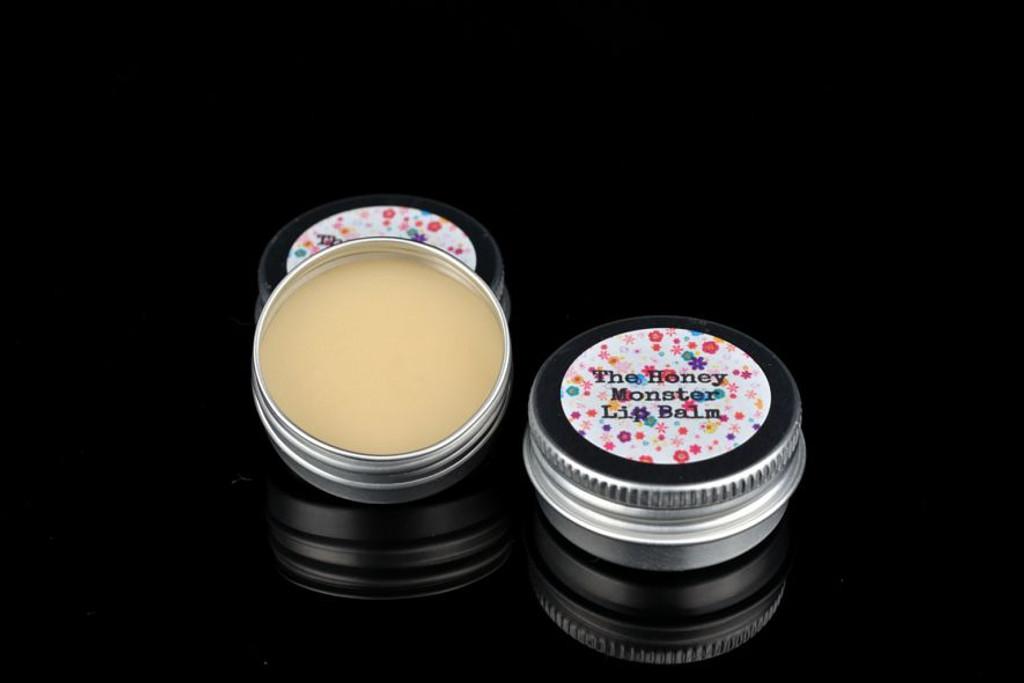 Handmade lip balm in honey