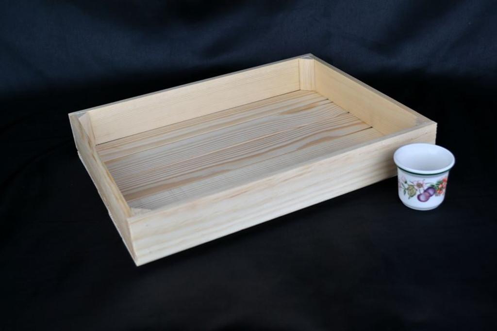 Handmade Wooden Display Trays.