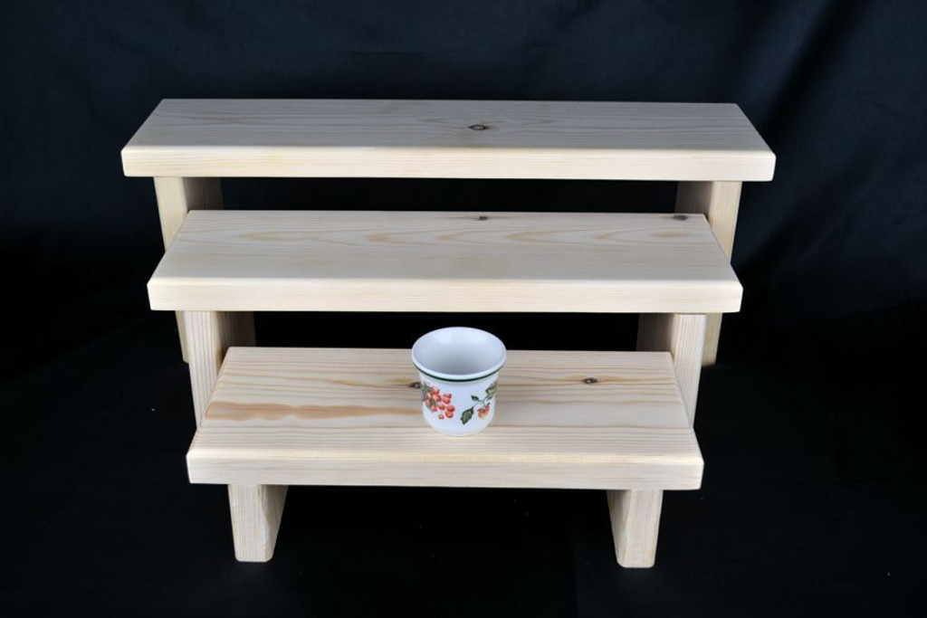 The 3 Tier Elemental 5-3 Display Stand is our elementary display stand