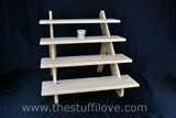 "4 Tier 75 cm (19.5"") Deep Portable Stepped Craft Trade Fair Table Top Wooden Collapsible Riser Display Stand"