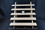 """5 Tier 50 cm (19.5"""") Wide Portable Stepped Craft Trade Fair Table Top Wooden Collapsible Riser Display Stand"""