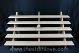 """5 Tier 1 Meter (39.5"""") Wide Portable Stepped Craft Trade Fair Table Top Wooden Collapsible Riser Display Stand"""