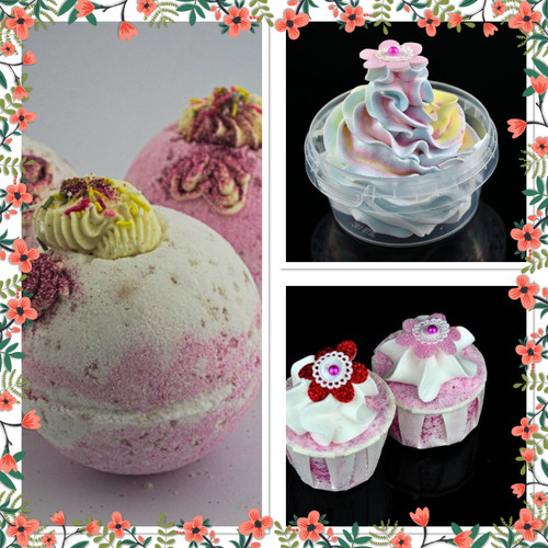 Handmade Strawberry Bath bomb gift set
