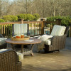 Lake Geneva Swivel Chairs with Chat table