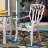 Cuba Dining Arm Chair in Rustic Driftwood finish