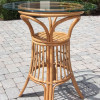 Universal Pub Table With Glass Top in Antique Honey finish