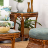 South Shore End Table with Glass Top