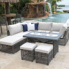 Graphite Outdoor 8 piece Sectional Set