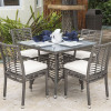 Graphite Outdoor 5 piece Dining Set with Stackable Side Chairs