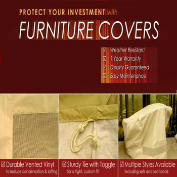 Furniture Cover Square Fire Table