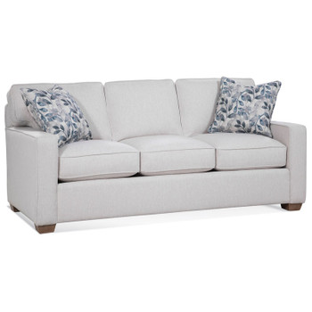 Gramercy Park 3 Seater Sofa in fabric '0865-94 B' with pillow fabric '0524-84 H' and Linen finish
