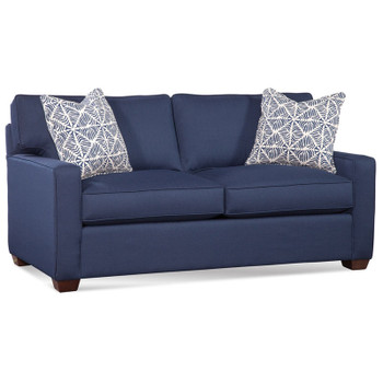 Gramercy Park Full Sleeper Sofa in fabric '0358-63 A' and Java finish.