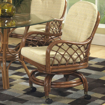 Grand Isle Swivel Rock Dining Chair with Casters