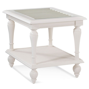 Grand View End Table in Frost White finish