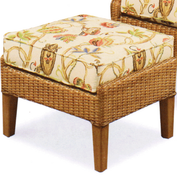 Havana Wing Ottoman in Honey finish