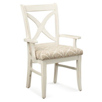 Hues Dining Arm Chair in Antique Cottage White finish
