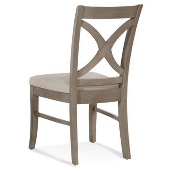 Hues Dining Side Chair in fabric '0851-93 A' and Driftwood finish