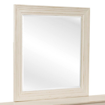 Hues Mirror in Antique Cottage White finish