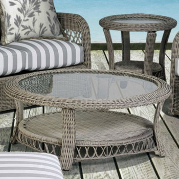 Arcadia Outdoor Coffee Table with Glass Top