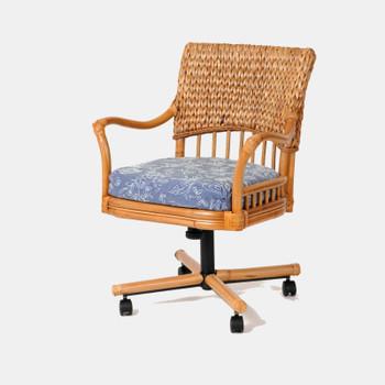 Key Largo Tilt Swivel Caster Chair in Antique Honey finish