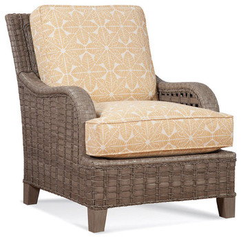 Lake Geneva Lounge Chair in Driftwood finish and fabric '6485-32 M'