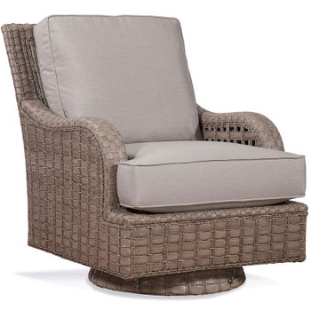 Lake Geneva Swivel Rocker in Driftwood finish and fabric 6345-32