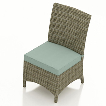 Universal Outdoor Armless Dining Chair - Flat Weave