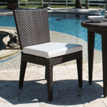 Atlantis Outdoor Dining Side Chair with Cushion
