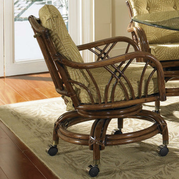 Orchard Park Swivel Rock Dining Chair with Castors