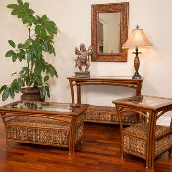 Panama Table Collection in Sienna finish