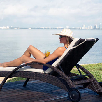 Atlantis Outdoor Stackable Chaise Lounge