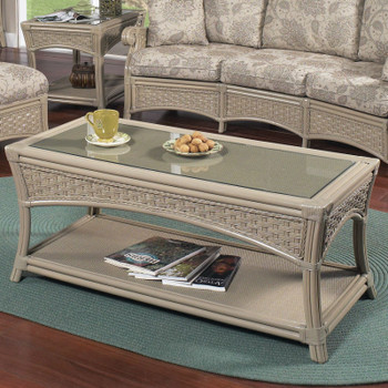 Riviera Coffee Table With Glass Top