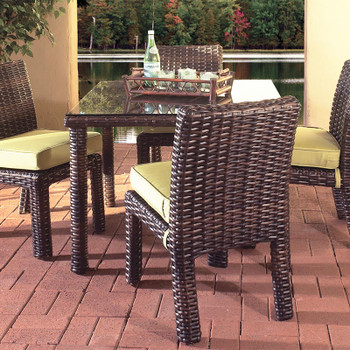 Saint Tropez 5 piece Outdoor Dining Set with side chairs in Tobacco finish