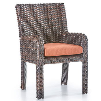 Saint Tropez Outdoor Dining Arm Chair in Tobacco finish