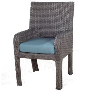 Saint Tropez Outdoor Dining Arm Chair in Stone finish
