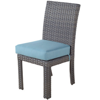 Saint Tropez Outdoor Dining Side Chair in Stone finish