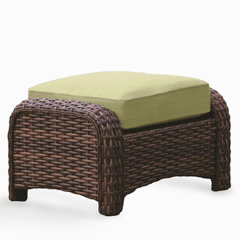 Saint Tropez Outdoor Ottoman in Tobacco finish