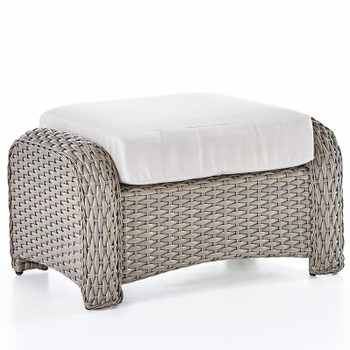 Saint Tropez Outdoor Ottoman in Stone finish