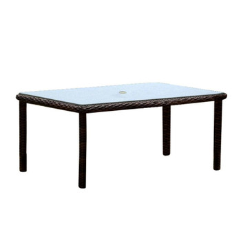 Saint Tropez Outdoor Rectangular Dining Table in Tobacco finish
