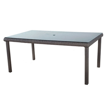 Saint Tropez Outdoor Rectangular Dining Table in Stone finish