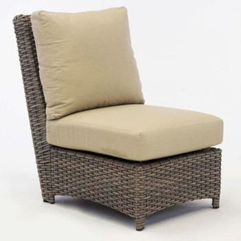 Saint Tropez Outdoor Sectional Armless Chair in Stone finish