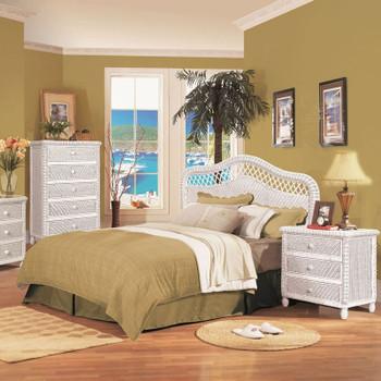 Santa Cruz Bedroom Collection in White finish