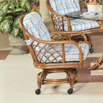 Santa Cruz Swivel Rock Dining Chair with Casters