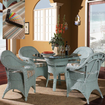 Seaside Retreat 5 piece Dining Set with Arm Chairs