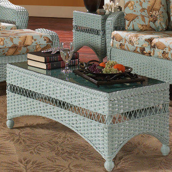 Seaside Retreat Coffee Table With Glass Top