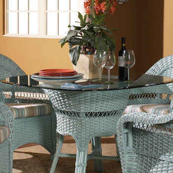 Seaside Retreat Dining Table With Glass Top