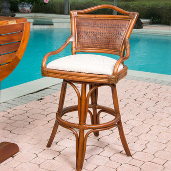 Serengeti Barstool in Sienna finish
