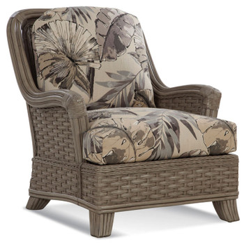 Somerset Lounge Chair in fabric '0876-86 H' and Driftwood finish