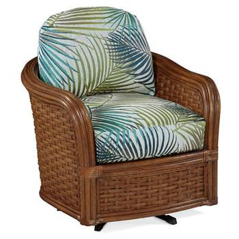 Somerset Swivel Chair in Havana finish