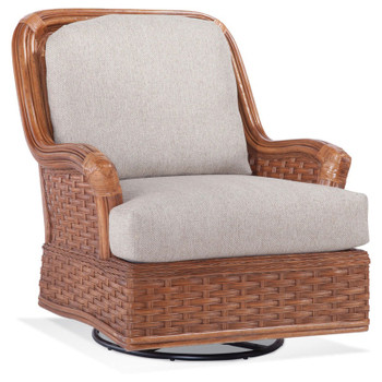 Somerset Swivel Glider in fabric '0861-74 C' and Havana finish